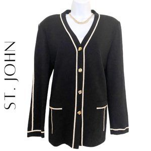 ST. JOHN Collection Santana Knit Blazer, Like New!